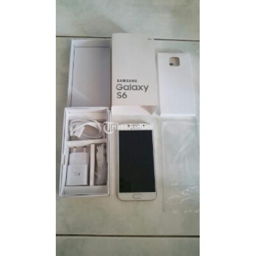 Samsung Galaxy S6 Flat Warna Putih 4G LTE Fungsi Normal ...
