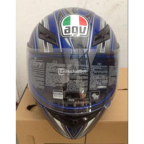 Helm Agv K3 Basic Evil Blue Original Size L Kondisi Baru Di Solo Tribunjualbeli Com