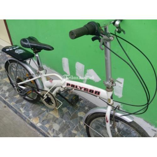 Sepeda Lipat Murah Merk Polygon Warna Putih Seken Mulus Siap Pakai Di Malang Tribunjualbeli Com