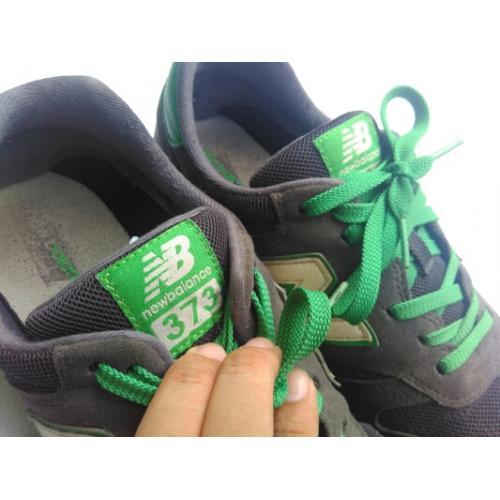 Sepatu New Balance 373 M373MGR, Grey/Green/White