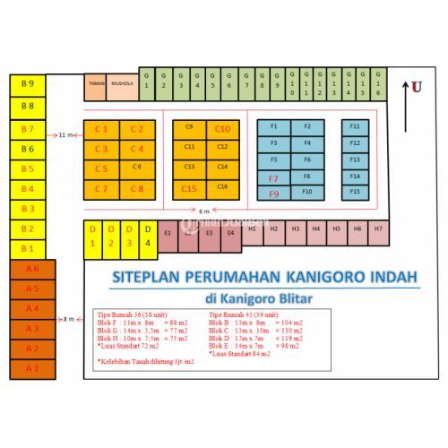 Rumah Minimalis Tipe 45 Perumahan Kanigoro Indah Blitar - Jawa Timur