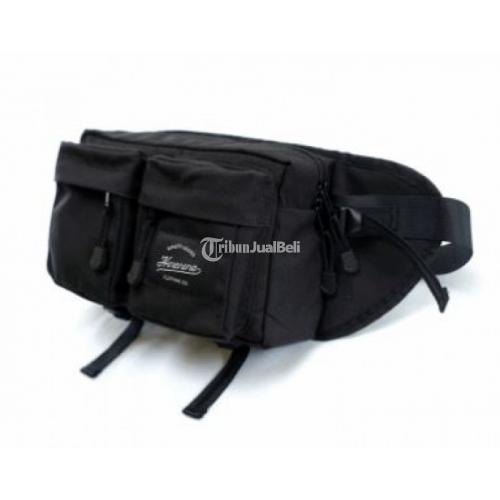 Hip Pack Tas Pinggang Cowok Hitam Compartment Insert Camera Murah - Yogyakarta
