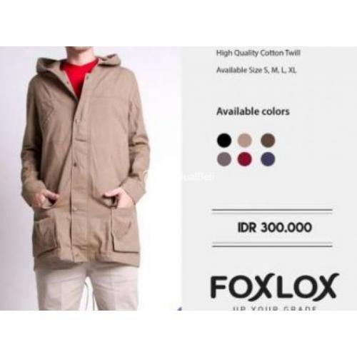 Jaket Blazer Parka Cowok Warna Cokelat Foxlox New Harga Murah - Bandung