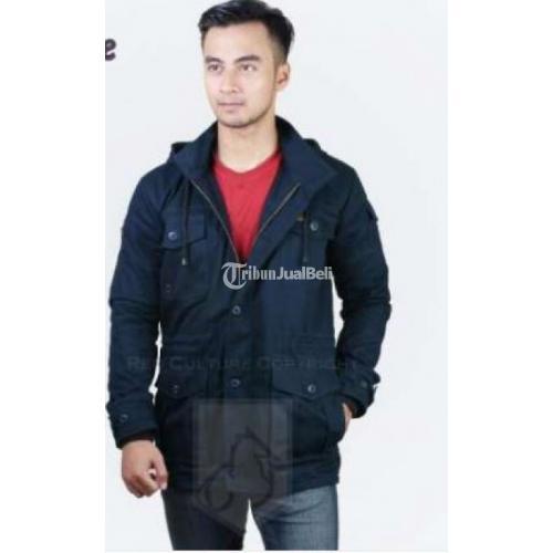 Jaket Blazer Parka Cowok Windbreaker / Centaurus Navy New Harga Murah - Bandung