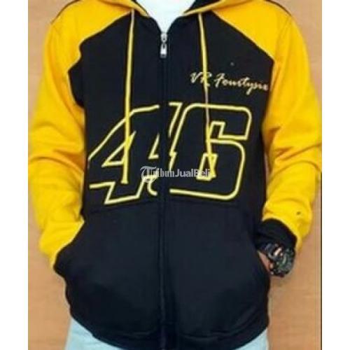 Jaket Valentino Rossi VR46 Black Yellow Branded Termurah Terbaru - Jawa Barat