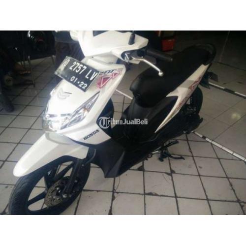 Motor Honda Murah Beat Karbu Putih Tahun 2012 Matic Seken Normal Lengkap - Bandung