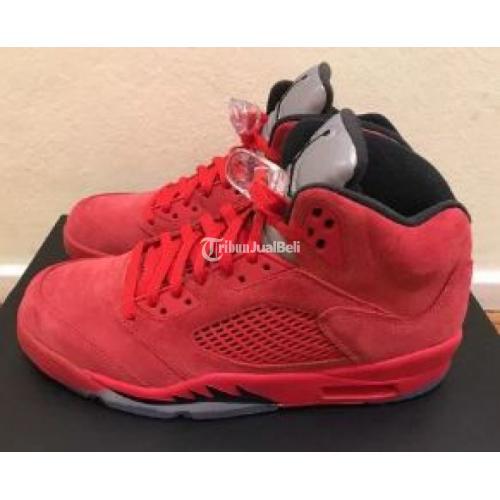 Nike Air Jordan Retro V5 Red Suede BNIB