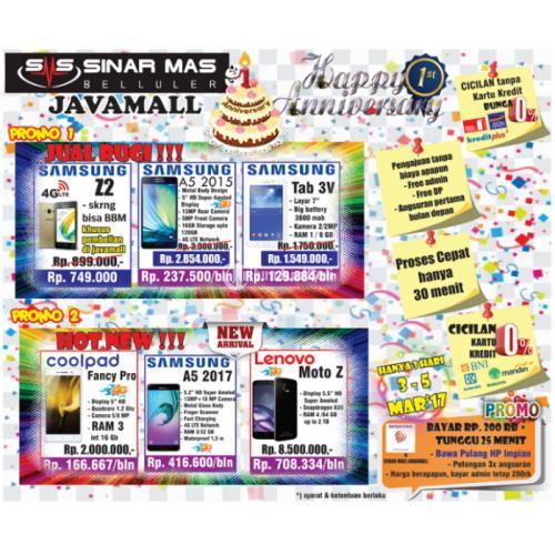 Promo Gila Aniversary Sinar Mas Selular Java Mall Di Semarang Tribunjualbeli Com