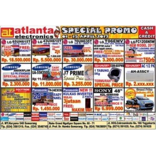 Atlanta Elektronik Special Promo 1di15 April 2017 Di Semarang Tribunjualbeli Com