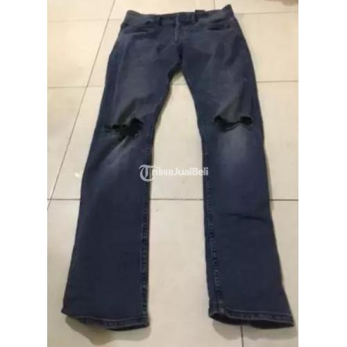 Celana Ripped Jeans Skinny H&M Original Second Bisa COD - Semarang