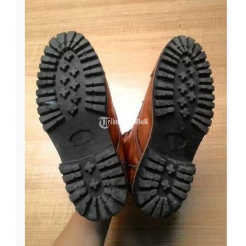 Sepatu Boots Pria Leather Kulit Brygan Ukuran Size 42 Bekas Murah - Bandung
