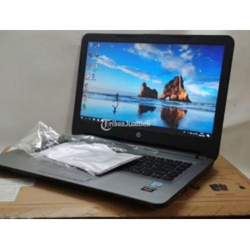Laptop Bekas Seperti Baru HP 14 AM015TX Intel Core i5 6200U Dual VGA Semua Ori - Sleman