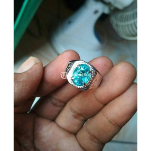 Aquamarine Ring Perak 525 Mewah Ukuran 9 Harga Murah Aja - Semarang