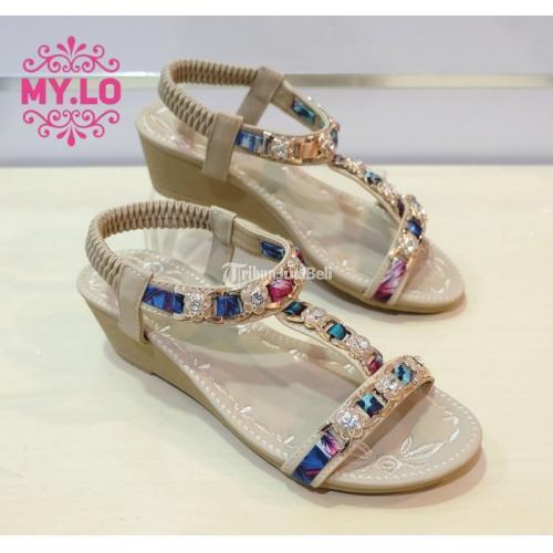 Sandal Wedges Wanita Size 36 - 40 Import Berkualitas Bagus 100% - Jakarta Barat