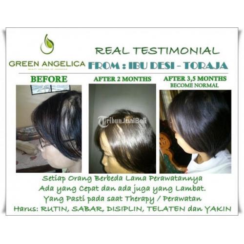 Hair Shampoo Herbal Green Angelica Penumbuh Rambut Mampu Mengatasi Ketombe - Karimun