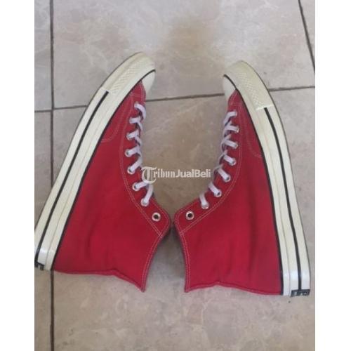 Sepatu Converse 70s Merah Like New Size 11 Ada Box dan Tisu - Surabaya
