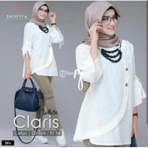 Baju Tunik Wanita Murah Hofia Claris Banyak Warna Bahan Katun Berkualitas - Malang