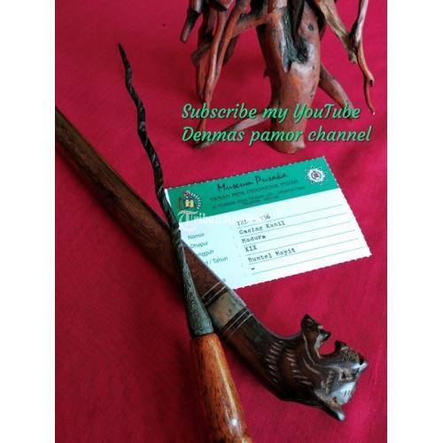 Tombak Cacing Pusaka Kanil Gubed Lengkap Katalog Museum Pusaka TMII - Depok