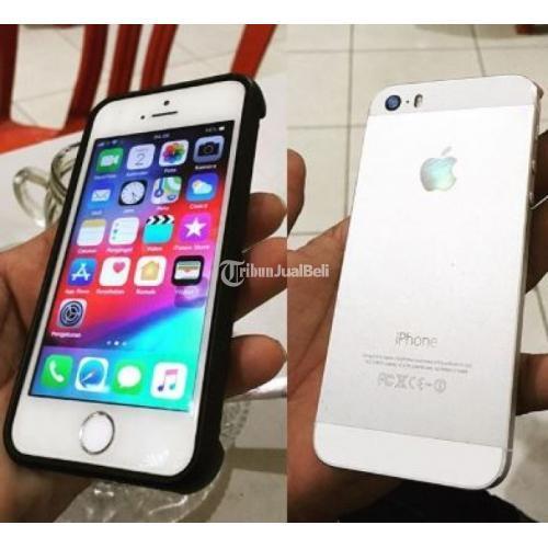 Hp Bekas Apple iPhone 5S 32 GB Fullset Ori iCloud Kosong - Singkawang