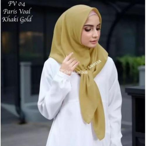 Hijab Paris Voal Segi Empat by Sahisya Bahan Berkualitas Jahit Tepi Standar Butik Murah - Malang