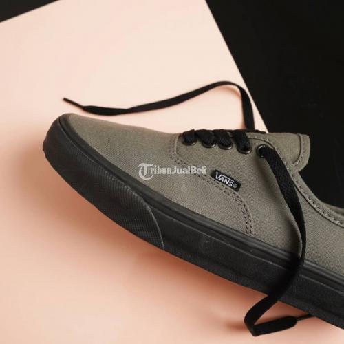 Sepatu Vans Authentic (black Sole) Brindle Grey Premium Import - Bandung