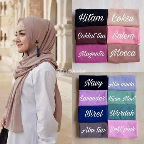 Hijab Sabyan Pasmhina dan Segiempat Bahan Diamond Italiano Harga Nego - Bogor