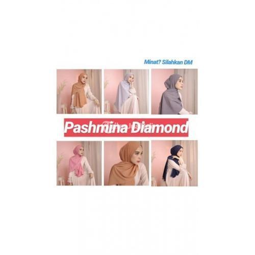 Hijab Wanita Murah Pashmina Diamond Berkualitas Banyak Warna - Makassar