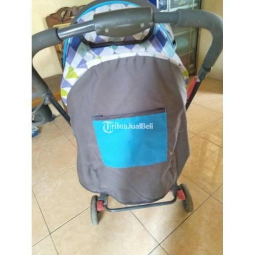 Stroller Bayi Murah Merek Pliko Second Mulus Lengkap Mainan dan Keranjang - Wonogiri
