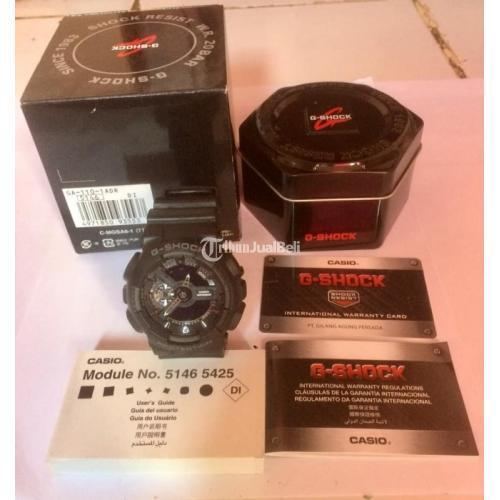 Jam Tangan G-Shock GA 110 1BDR Black Original Fullset Normal Harga Nego - Jogja