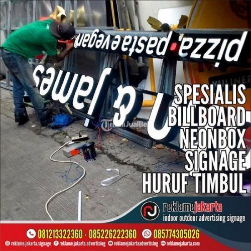 Pembuatan Signage Reklame, Produksi Neon Box, Instalasi Huruf Timbul - Jakarta Utara