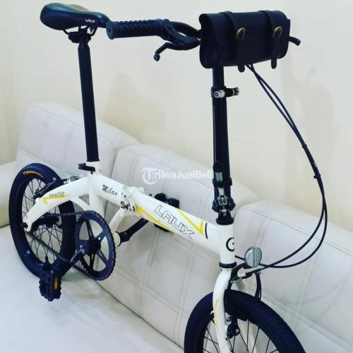 Sepeda Lipat Murah Laux Milan Bekas Restorasi Mulus Normal Siap Pakai Di Bekasi Tribunjualbeli Com