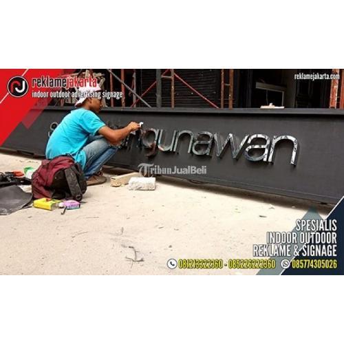 Pasang dan Produksi Huruf Timbul LED, Signage, Neon Box, Akrilik, Billboard - Jakarta utara
