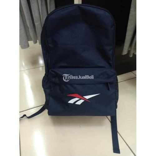 Tas Bagpack Reebook Baru Ada Slot Laptop Warna Navy dan Hitam - Bekasi