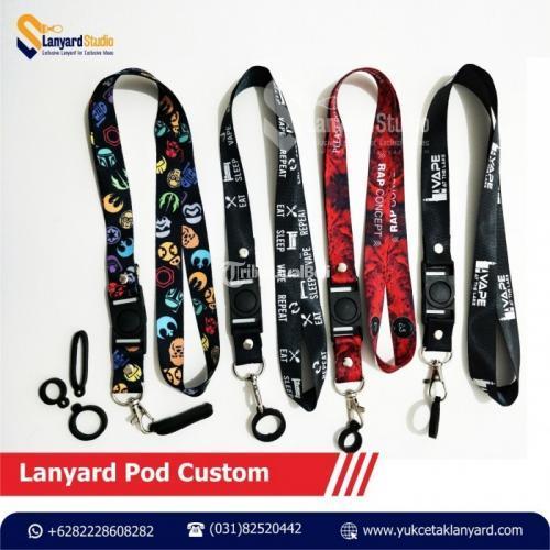 Lanyard Kalung POD Custom Printing Satuan - Surabaya