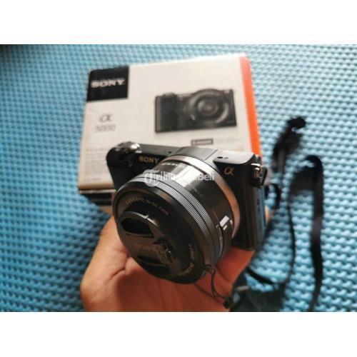 Kamera Mirrorless Bekas Sony A5000 Fullset Mulus SC Rendah Harga Murah - Bekasi