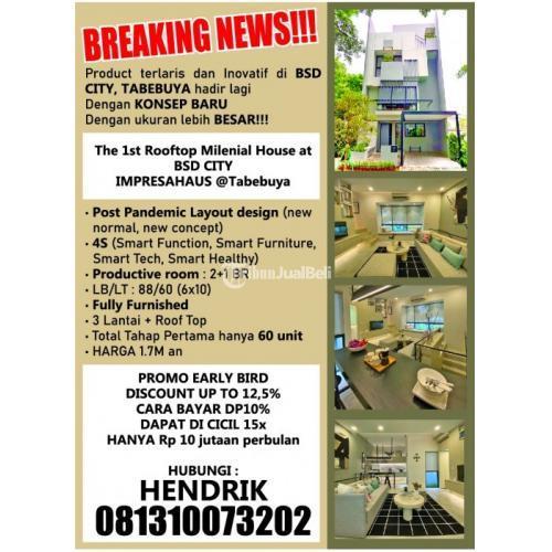 Dijual Cluster Impresahaus Tabebuya BSD City Fully Furnished - Tangerang
