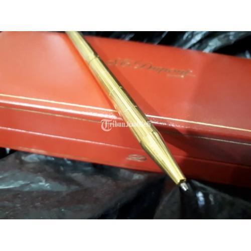 Pulpen Mewah S.T. Dupont Seri 5D4NF56 18k Gold Plated Original With Dupont Box - Jakarta