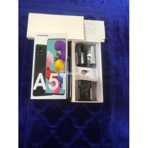 HP Samsung A51 Black Bekas Harga Rp 3,5 Juta Ram 6GB 128GB Murah - Jakarta