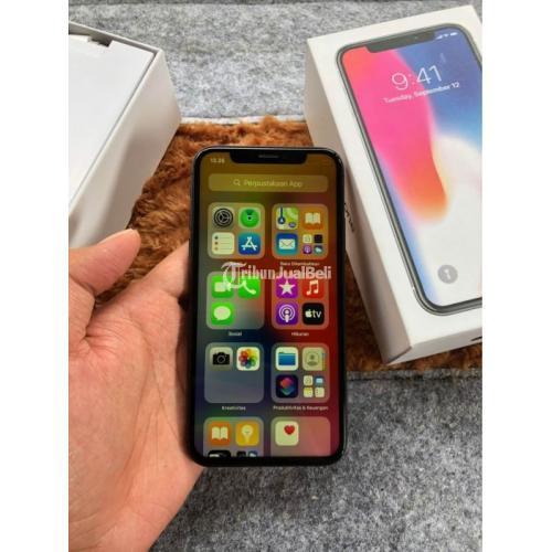 HP Bekas iPhone X 64GB Nominus Fullset IMEI iCloud Aman Harga Nego - Jakarta