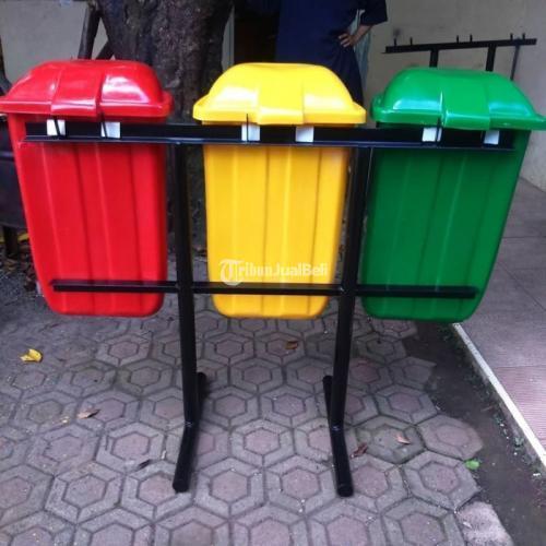 Tong Sampah FIber Model Oval Pilah 3 Harga Terjangkau - Bekasi