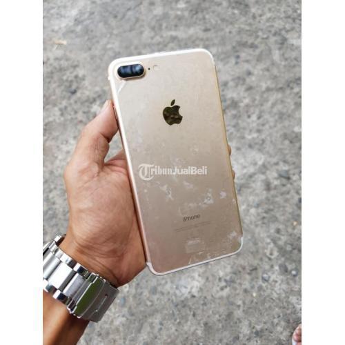 HP Bekas iPhone 7 Plus 128GB Gold Resmi Fullset Normal Like New Harga Murah - Makassar