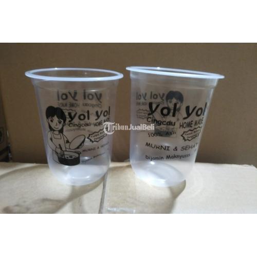 Cup Gelas Plastik 16oz Satu Warna Berat 9 Gram - Jakarta