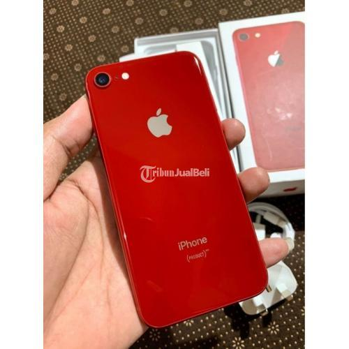 HP Apple Bekas iPhone 8/64GB Fullset Mulus Ex Inter Like New Harga Murah - Surabaya