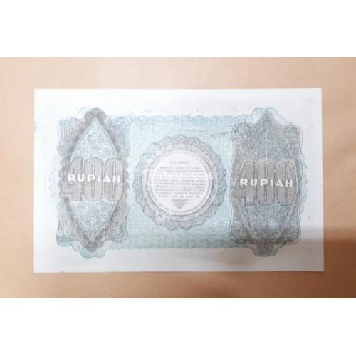 Uang Kuno Indonesia 400 Rupiah Tahun 1948 Soekarno UNC RPH001 - Jakarta