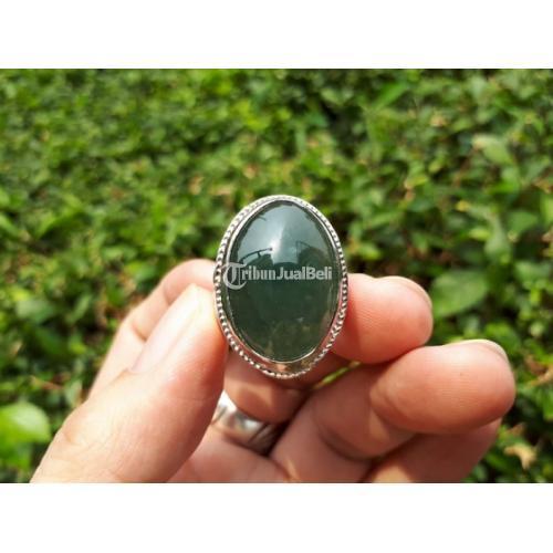 Cincin Permata Giok Jadeite Jade Type A JDT014 No Treatment Origin Burma - Jakarta