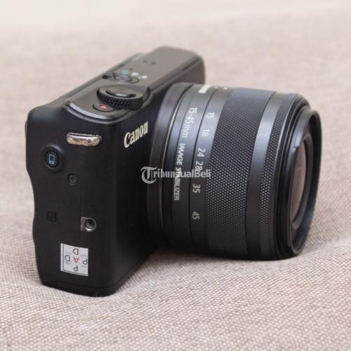 Kamera Bekas Canon EOS M10 Black kit 15-45mm IS STM WIFI Fullset Bonus - Surabaya
