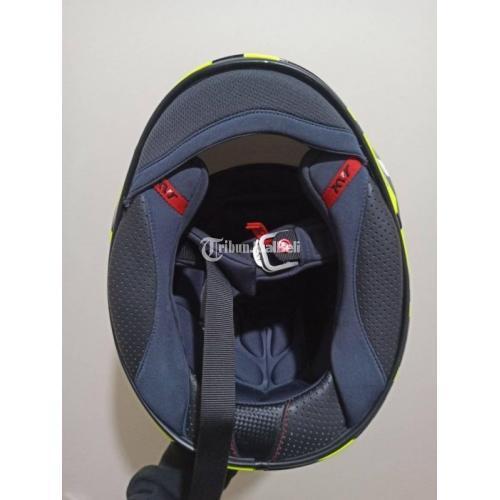 Helm KYT NX Race Carbon Fluo Size XL Like New Lengkap Harga Nego - Jakarta