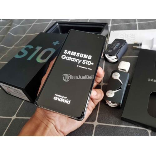 HP Samsung S10+ Bekas Harga Rp 7,1 Juta Ram 8GB 128GB Murah Lengkap - Bali