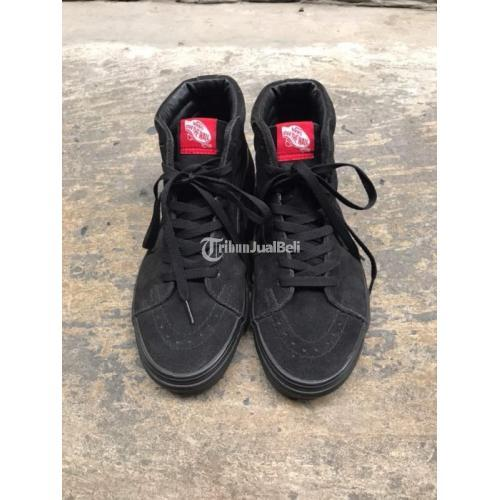 Sepatu Vans SK8 High Full Black Original Ukuran 39 Second Mulus - Surabaya