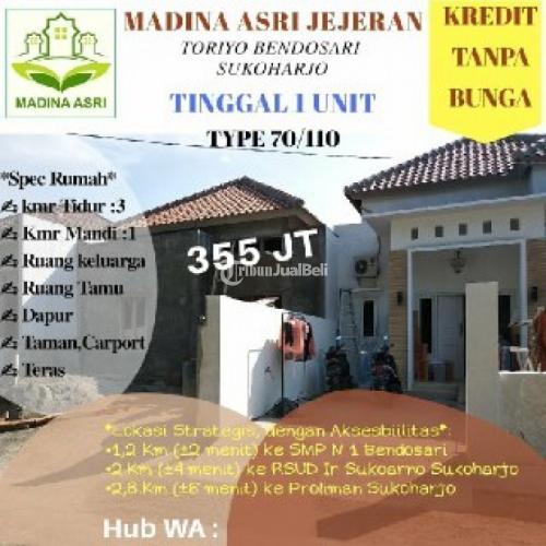 Dijual Rumah Siap Huni 3KT 2KM Dekat IR Soekarno Tiroyo Bendosari - Sukoharjo